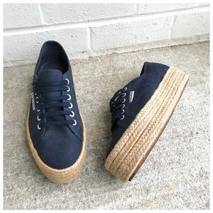 Superga Navy Blue 2730 Espadrille Sneakers